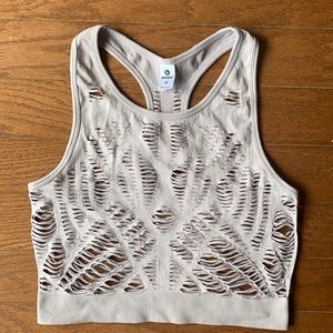 90 Degrees | Chic Sports Bra Crop Top with Cutouts